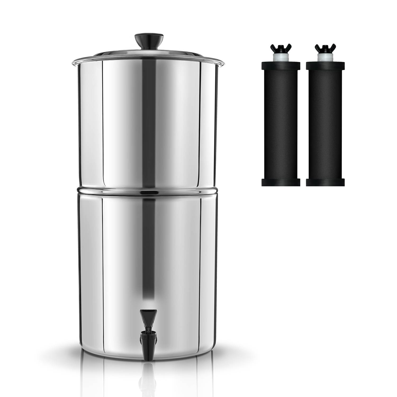 Purewell Pro Gravity Water Filtration System alternative to Berkey Water Filter K8627