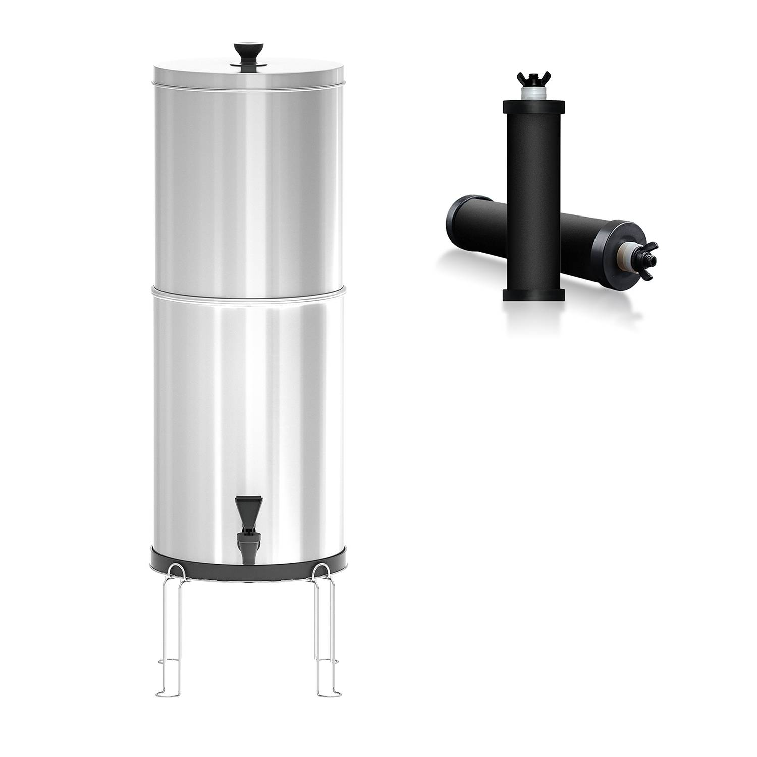 Purewell Pro Gravity Water Filtration System alternative to Berkey Water Filter K8627A