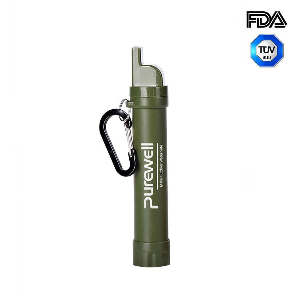 Best Purewell Personal Water Filter Straw alternative to LifeStraw Original K8612A