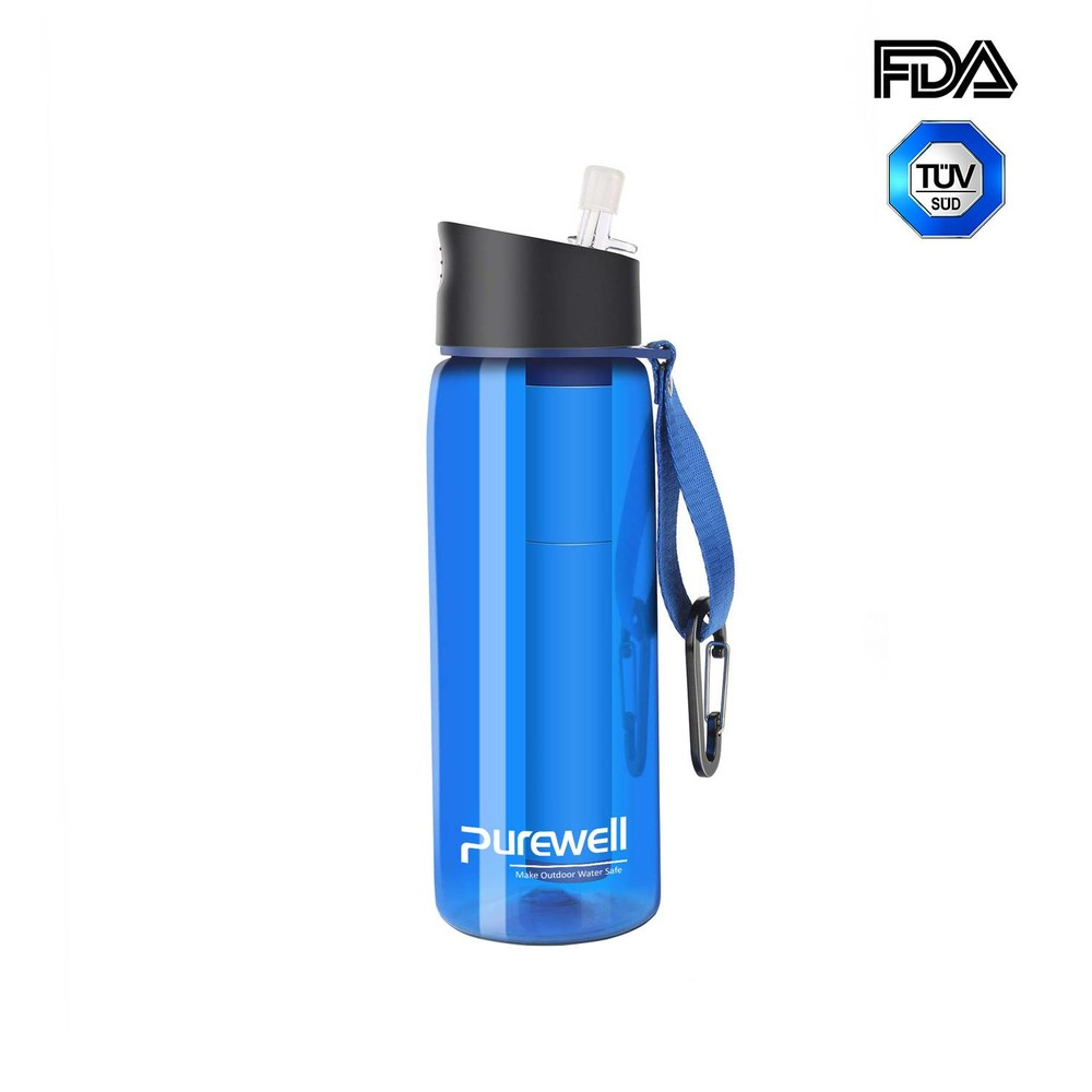 Purewell Personal Water Filter Bottle 650ml alternative to LifeStraw Go K8618
