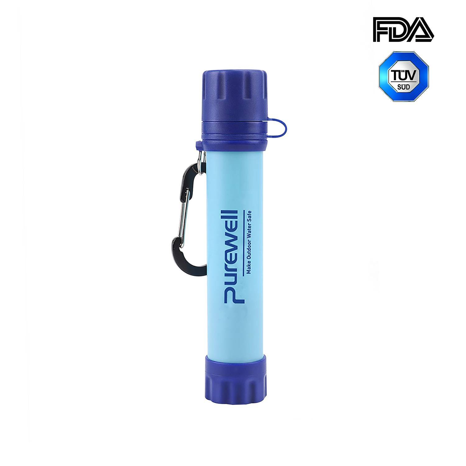 High-quality Purewell Personal Water Filter Straw alternative to LifeStraw Original