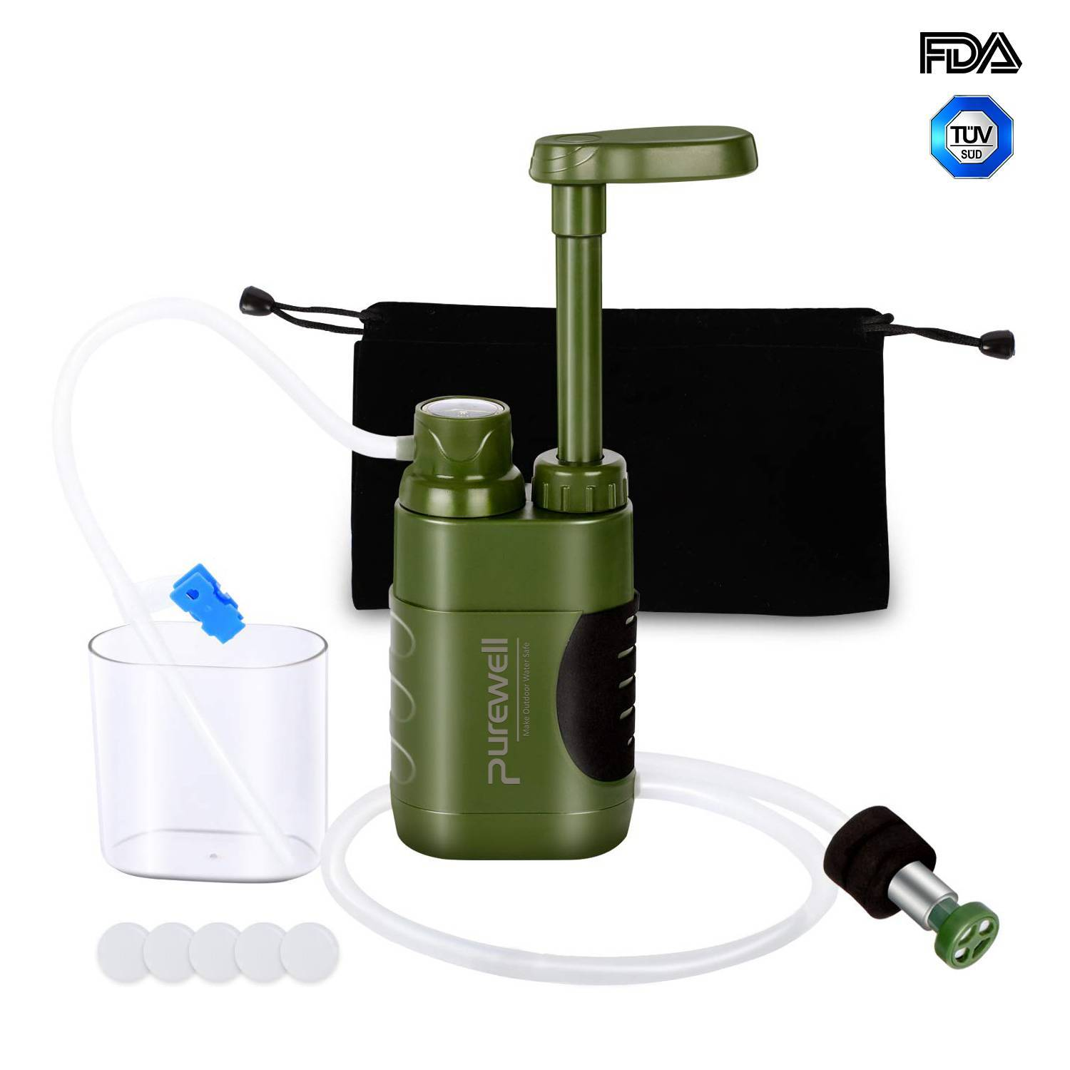 Purewell Water Filter Pump alternative to MSR or Katadyn Hiker