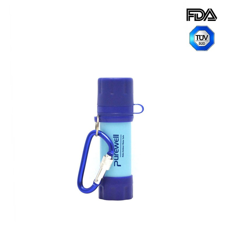 Purewell Personal mini Water Filter Straw alternative to Sawyer Mini