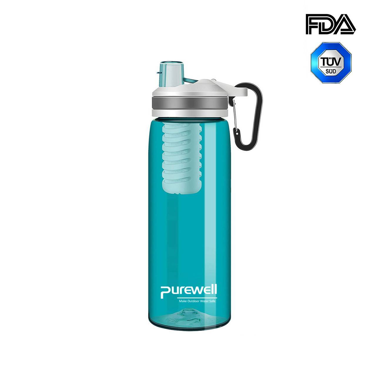 Purewell Personal Water Bottle with filter 770ml alternative to LifeStraw Go K8636